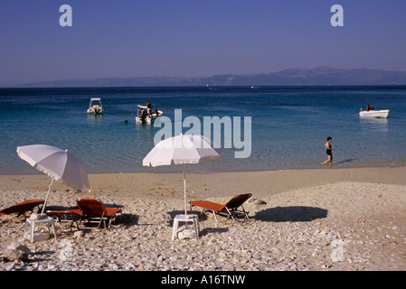 a beautiful beach in Antipaxos Island Ionian sea Greece - Stock Photo