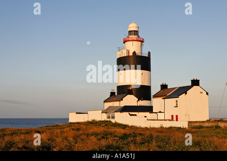 Lighthouse of Hook´s Head which is dating back to the 13.th century, County Wexford, Ireland - Stock Photo