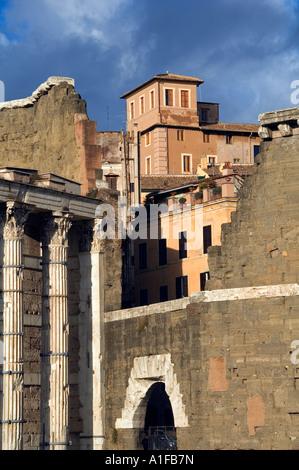 Forum of Nerva near Piazza dell Grillo square in Rome Italy - Stock Photo