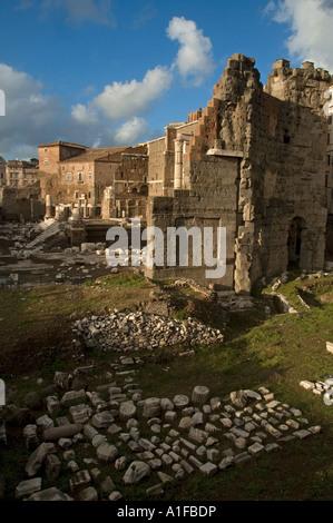 Forum of Nerva ruins near Piazza dell Grillo in Rome Italy - Stock Photo