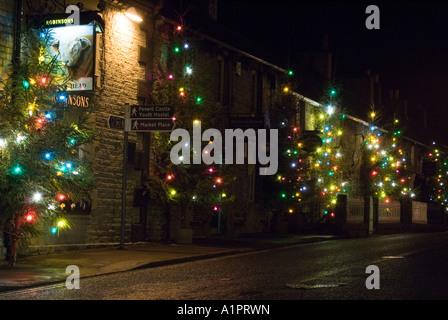 Christmas trees in Castleton, Derbyshire - Stock Photo