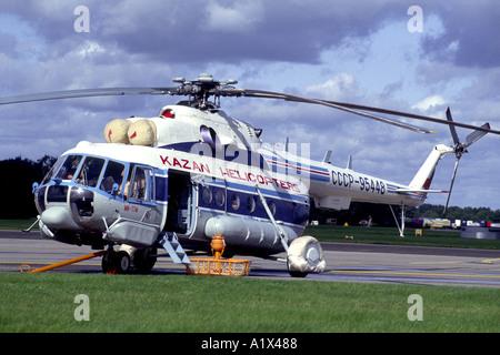 Mil Mi 8 Mi17 Hip Russian heavy lift Troop Freight helicopter.  GAV 1070-36 - Stock Photo