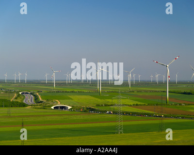 windpark Parndorf Austria wind wheels - Stock Photo