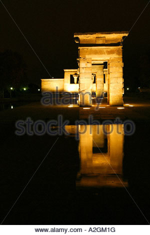 Temple of the debod, Madrid SPAIN - Stock Photo