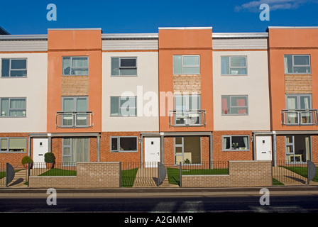 Innovative and environmentally friendly homes being built in the deprived and run down East Manchester area of Beswick - Stock Photo