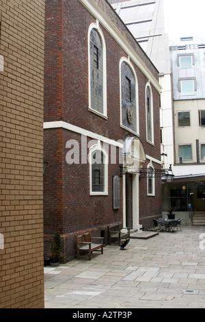 Bevis Marks Jewish Synagogue exterior City of London EC2 England UK - Stock Photo