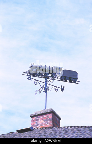 Weather Vane / Weathervane on Roof of Railway Station - Stock Photo