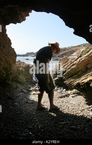 Crystal Cove state park Los Angeles California - Stock Photo