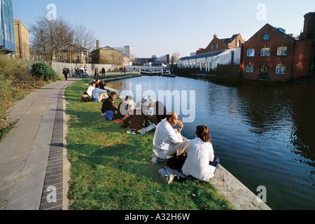Regent's Canal, Camden Town, London, United Kingdom - Stock Photo