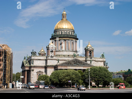 The Saint Isaac's Cathedral (Isaakievskiy Sobor ). Architect Monferran is Built in 1818-1858. Saint Petersburg, - Stock Photo