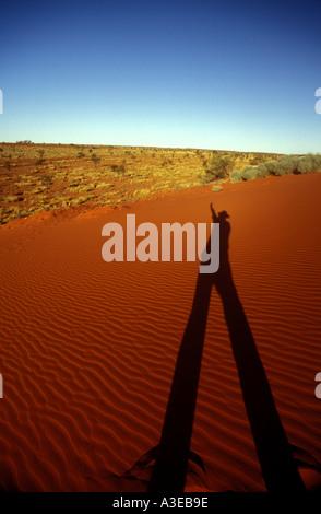 Desert shadow long legs long shadows 0582 - Stock Photo