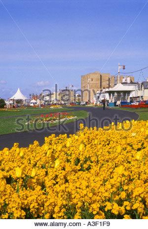 Promenade, Southport, Merseyside, England, UK - Stock Photo