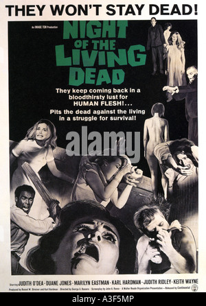 NIGHT OF THE LIVING DEAD poster for  1968 Image Ten film - Stock Photo