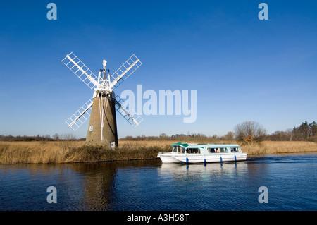 Turf Fen Mill, Norfolk Broads, East Anglia, UK - Stock Photo