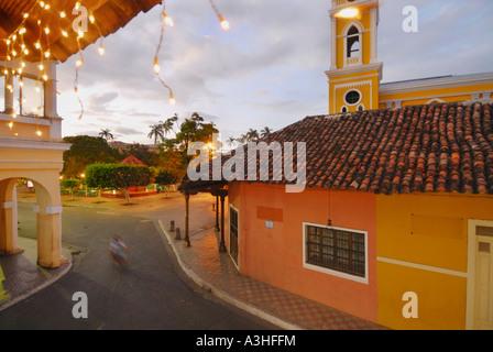 Calle Calmito and Granada Cathedral on Granada's Central Square - Stock Photo