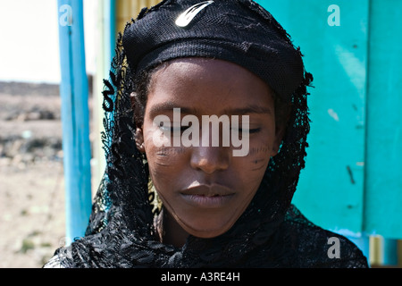 Afar girl, Djibouti, Africa - Stock Photo