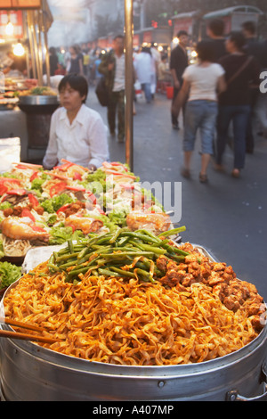 Noodles At Food Stall, Urumqi - Stock Photo