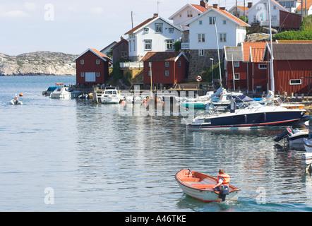 Island of Gullholmen. Orust, Bohuslän, Sweden - Stock Photo