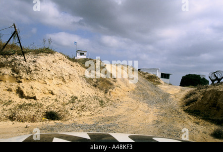 un observation post in the buffer zone between north and south cyprus - Stock Photo