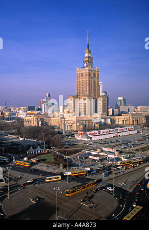 Palace of Culture, Warsaw, Poland - Stock Photo