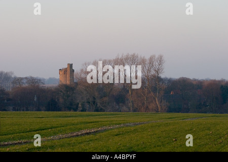 Caister Castle on the East Norfolk coast - Stock Photo