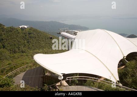Malaysia Kedah Langkawi Pantai Kok Gunung Mat Cincang Cable Car top station - Stock Photo