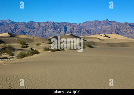 Mesquite Sand Dunes At The Death Valley National Park, California, USA - Stock Photo