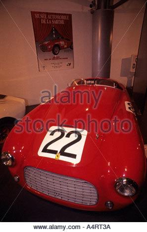 166 MM Touring Barchetta Musee Automobile De La Sarthe Automobile museum Le Mans France - Stock Photo