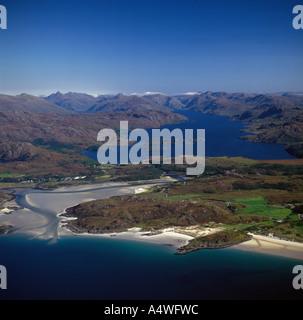 Loch Morar Scotland aerial view - Stock Photo