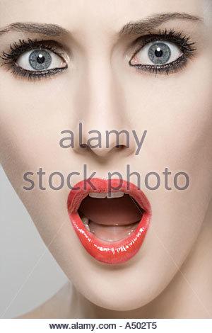 Shocked woman - Stock Photo
