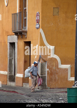 Painet ip1703 guatemala street scene antigua country developing nation less economically developed culture emerging - Stock Photo