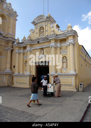 Painet ip1748 guatemala colonial church antigua country developing nation less economically developed culture emerging - Stock Photo