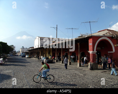 Painet ip1749 guatemala main square antigua country developing nation less economically developed culture emerging - Stock Photo