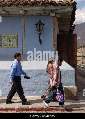 Painet ip1751 guatemala street scene antigua country developing nation less economically developed culture emerging - Stock Photo