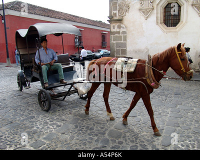 Painet ip1753 guatemala horse cart antigua country developing nation less economically developed culture emerging - Stock Photo