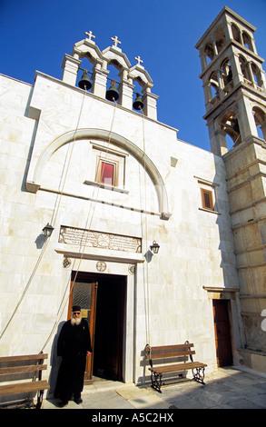 GREECE CYCLADES MYCONOS ISLAND THE MONASTERY OF PANAGHIA TOURLIANI - Stock Photo