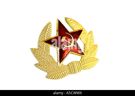 Military badge from the former Soviet Union. - Stock Photo