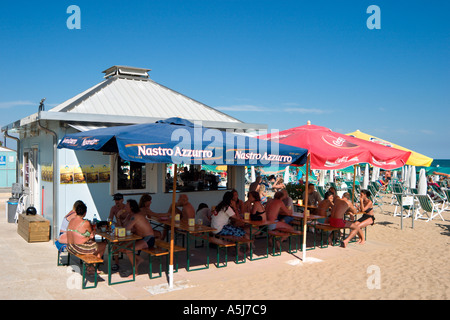 Beach Bar, Lido de Jesolo, Venetian Riviera, Italy - Stock Photo