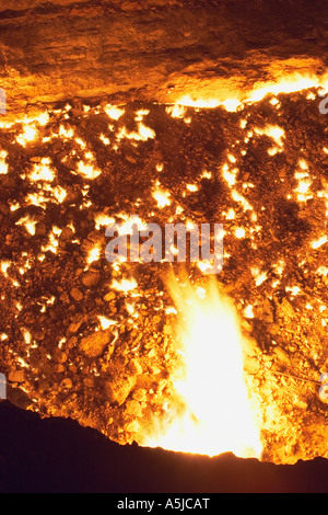 Gas Crater At Darvaza - Stock Photo