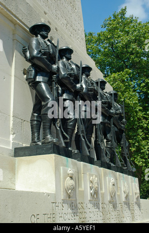 The Memorial to the Household Division Horseguards Parade London England - Stock Photo