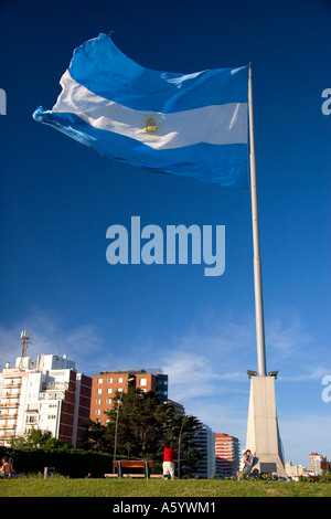 The Argentine flag in Argentina. - Stock Photo