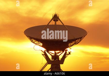 USA New Mexico Socorro VLA Very Large Array Telescopes - Stock Photo