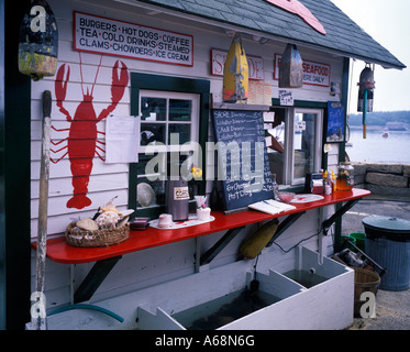 Lobster shack Mt Desert Island Maine - Stock Photo