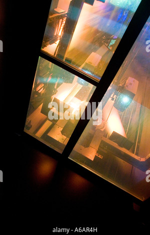 Light show in elevator to Top of the Rock. Rockefeller Center New York City NY USA - Stock Photo