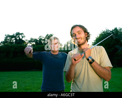 Young male golfers - Stock Photo