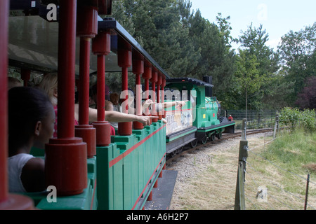 Orient Expedition steam engine train ride in Legoland - Stock Photo