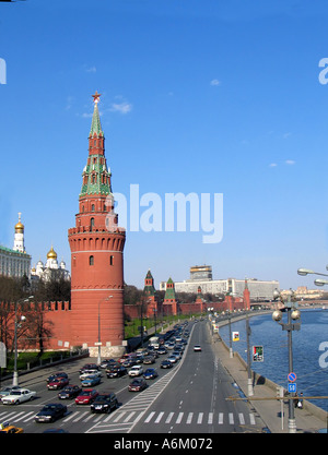 The Kremlin and Moscow River - Stock Photo