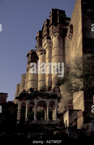 ASIA, India, Jodphur, Rajasthan, Mehrangarh Fort - Stock Photo