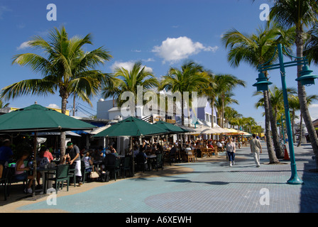 Fort Meyers Beach Florida FL is a popular tourist snowbird student spring break destination recreation and vacation - Stock Photo