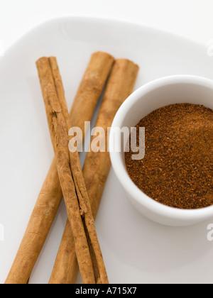 Cinnamon and nutmeg - high end Hasselblad 61mb digital image - Stock Photo
